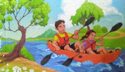 Okul Gezisi Hikayeli Yapboz / 30 x 40 cm