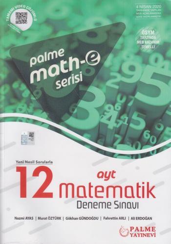 Palme AYT Matematik Math-e Serisi 12 Deneme Sınavı