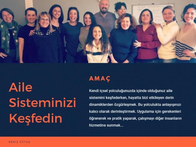 Aile Sistemi Çalışması Uygulayıcı Eğitimi – 1. Seviye (Antalya) Deniz