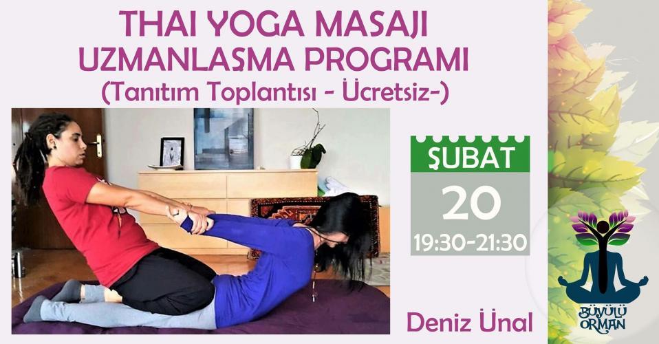 Ücretsiz Thai Yoga Masajı Uzmanlaşma Programı Tanıtımı