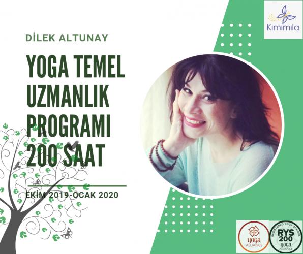 200 Saat Temel Yoga Uzmanlik Programı (Ekim 2019-Ocak 2020)