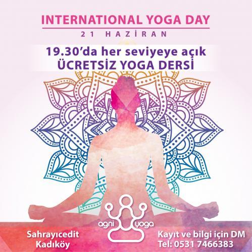 Ücretsiz Yoga Dersi - Uluslararası Yoga Günü