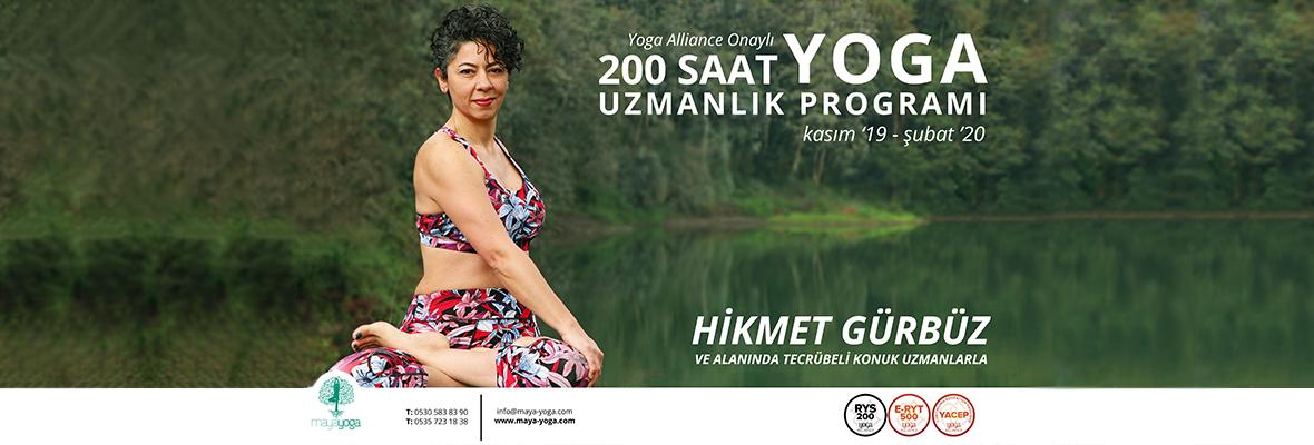Hikmet Gürbüz ile Yoga Alliance onaylı 200 Saatlik Yoga Uzmanlık Programı