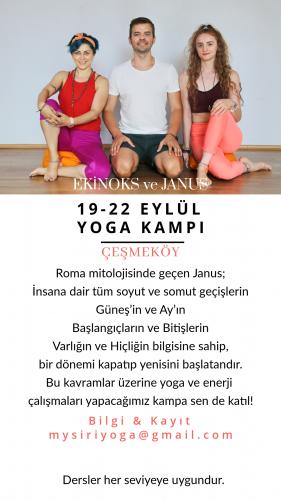 19-22 Eylül Yoga Kampı / Çeşmeköy