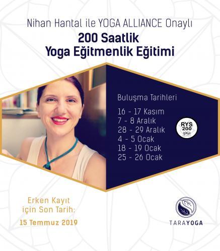 Nihan Hantal ile 200 Saat Temel Seviye Yoga Eğitmenlik Eğitimi