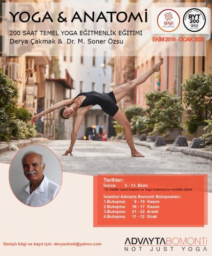 Yoga & Anatomi 200 Saat Eğitmenlik Eğitimi
