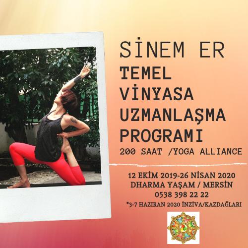 Temel Vinyasa Yoga Uzmanlaşma Programı Asu Somer