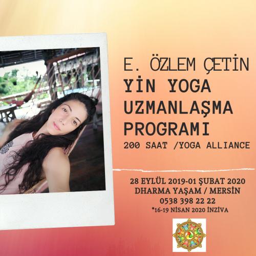 Yin Yoga Uzmanlaşma Programı E. Özlem Çetin