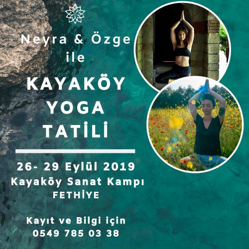 Özge & Neyra ile Kayaköy-Fethiye Yoga Tatili