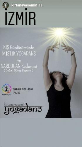Kirtana Yasemin ile YogaDans ve Nardugan Kutlaması