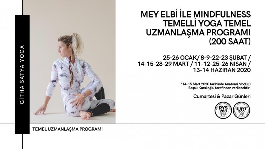 Mey Elbi ile Mindfulness Temelli Yoga Temel Uzmanlaşma Programı