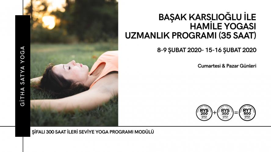 Başak Karslıoğlu ile Hamile Yogası Uzmanlık Programı Başak Karslıoğlu