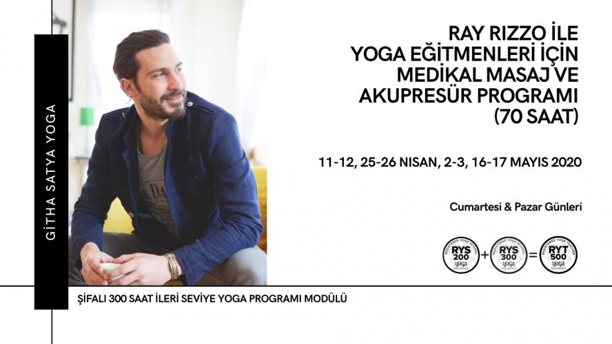 Ray Rizzo ile Yoga Eğitmenleri için Medikal Masaj ve Akupresür Program