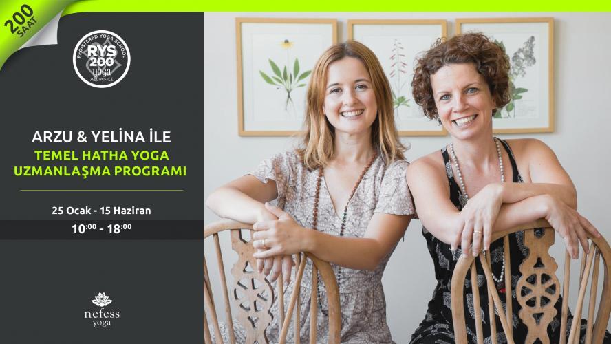 Arzu & Yelina ile 200 Saat Temel Hatha Yoga Uzmanlaşma Programı