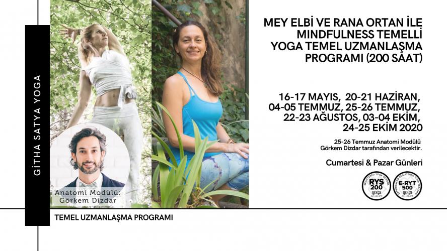 Mey Elbi ve Rana Ortan ile Mindfulness Temelli Yoga Temel Uzmanlaşma Programı