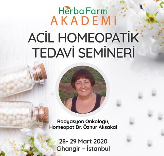 Acil Homeopatik Tedavi Semineri Dr. Öznur Aksakal