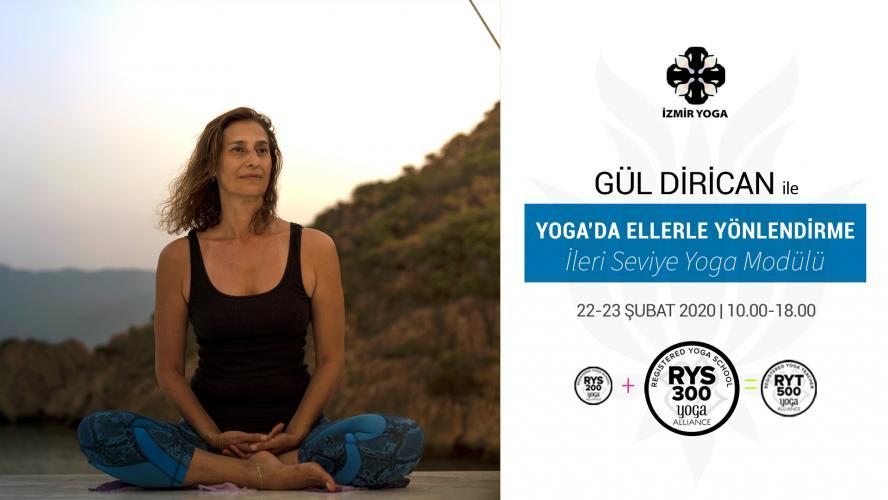 """Gul Dirican ile """"Yoga'da Ellerle Yönlendirme"""" (16 saat)"""