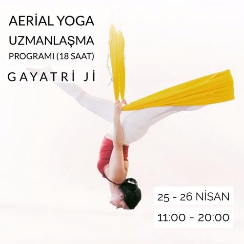 Gayatri Ji ile 18 saatlik Aerial Yoga Uzmanlaşma Programı