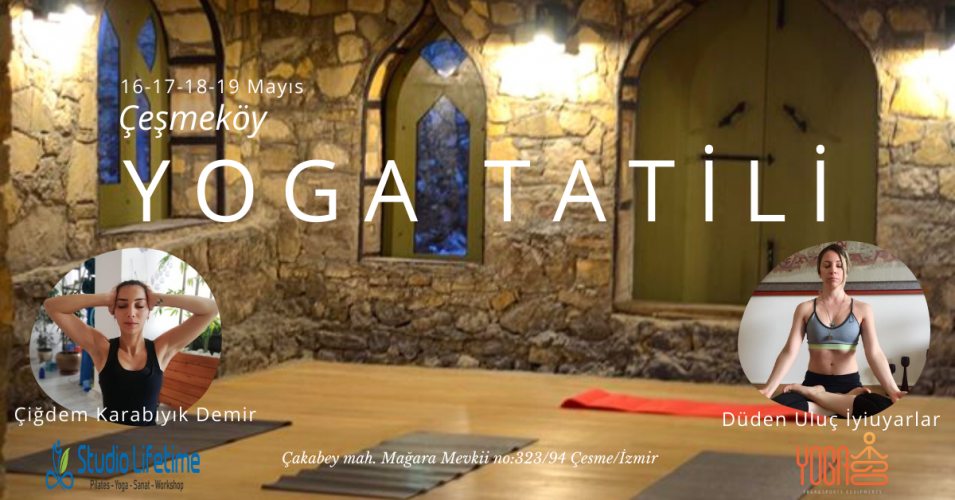 Çeşmeköy'de Yoga Pranala Ve Fly Yoga Kampı Çiğdem Karabıyık Demir