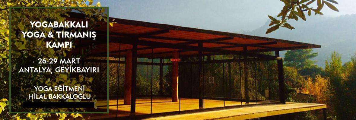 Yogabakkalı Yoga ve Tırmanış Kampı Hilal Bakkaloğlu