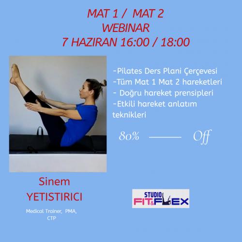 Pilates Mat 1 Mat 2 Workshop