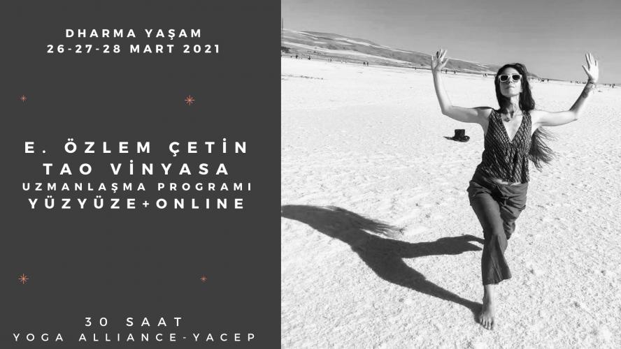 "E. Özlem Çetin ""Tao Vinyasa Uzmanlaşma"" 30 Saat-Yacep E. Özlem Çetin"