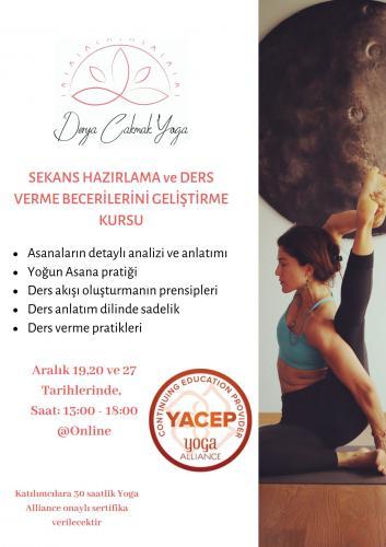 Yoga Ders Sekansı Oluşturmak Ve Ders Verme Becerilerini Geliştirme Programı