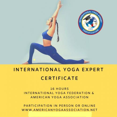 International Yoga Expert Certificate