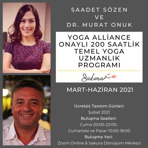 Yoga Alliance Onaylı 200 Saatlik Temel Yoga Uzmanlık Programı Dr. Mura