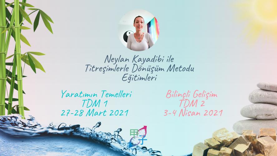 Neylan Kayadibi ile Titreşimlerle Dönüşüm Metodu Yaratımın Temelleri (TDM1) & Bilinçli Gelişim (TDM2)