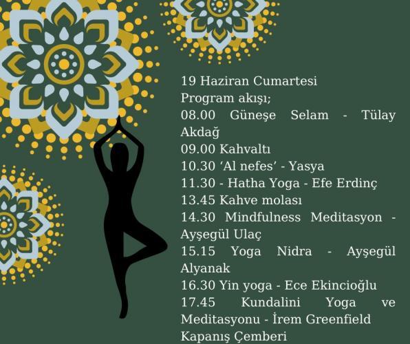 Bizimbahçe Dünya Yoga Günü Festivali