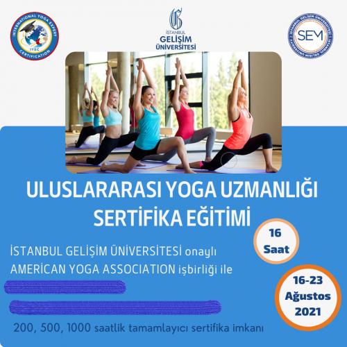 International Yoga Expert Certificate/Uluslararası Yoga Uzmanlık Programı