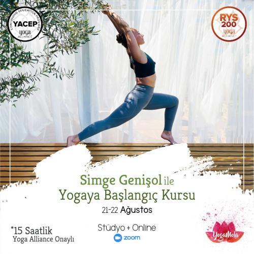 Simge Genişol İle Yoga Alliance Onaylı Yogaya Başlangıç Kursu