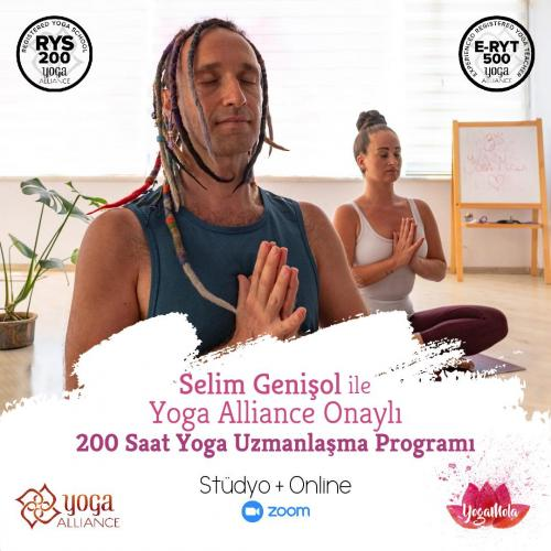 Selim Genişol İle Yoga Alliance Onaylı Yoga Uzmanlaşma Programı