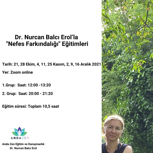 """Dr. Nurcan Balcı Erol'la """"Nefes Farkındalığı"""" Programı"""
