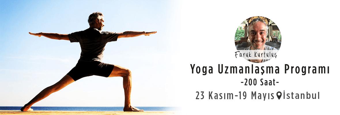 Faruk Kurtuluş'la 200 Saat Yoga Uzmanlaşma Programı