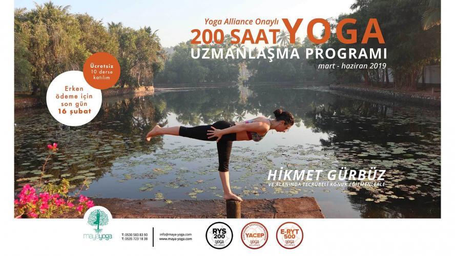 Hikmet Gürbüz ile Yoga Alliance Onaylı 200 Saat Yoga Uzmanlaşma Progra