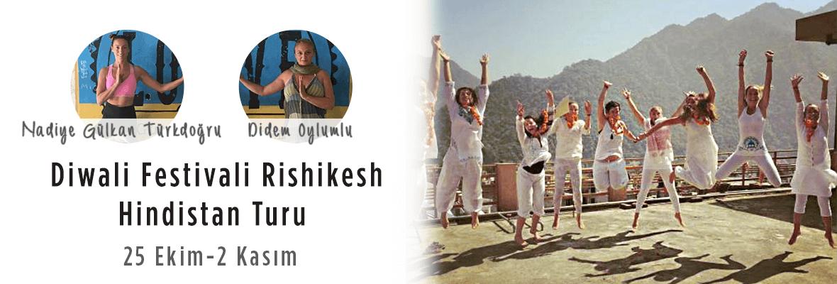 Diwali Festivali Rishikesh/Hindistan Turu