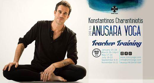 Konstantinos ile 200 Saat Anusara Yoga / Temel Yoga Uzmanlık Programı