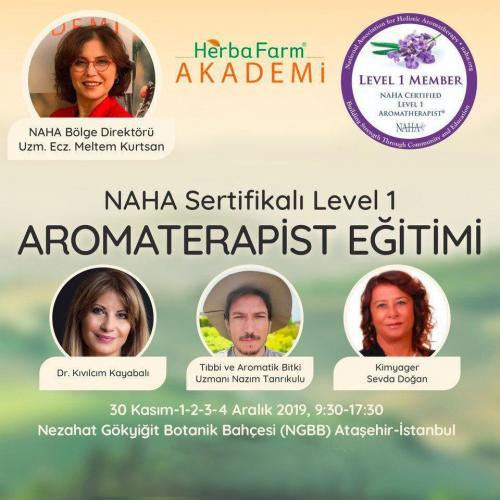 Naha Sertifikalı Level 1 Aromaterapist Eğitimi Eczacı Meltem Kurtsan