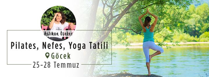 Göcek'te Pilates, Nefes, Yoga Tatili