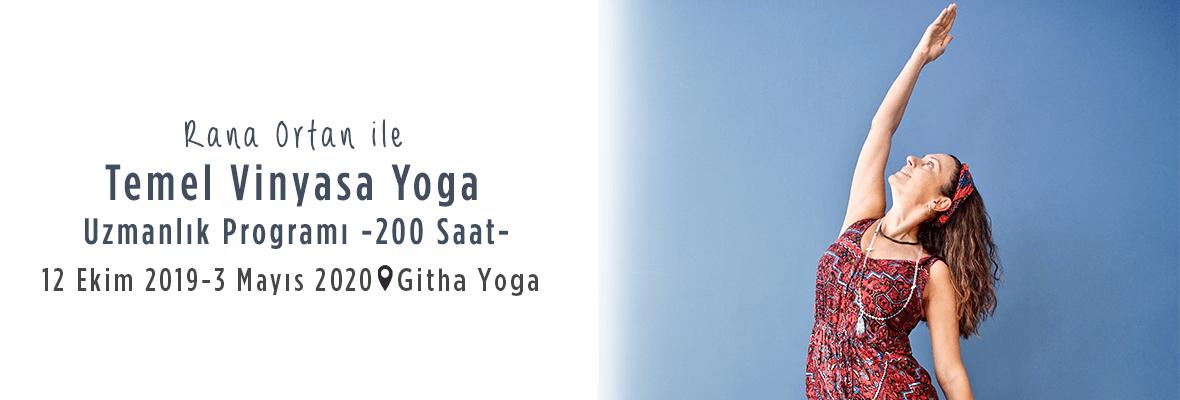 Rana Ortan İle 200 Saat Temel Vinyasa Yoga  Uzmanlik Programı
