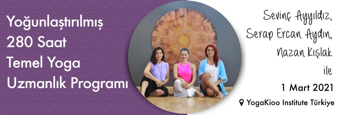 Yoğunlaştırılmış 280 Saat Temel Yoga Uzmanlık Programı