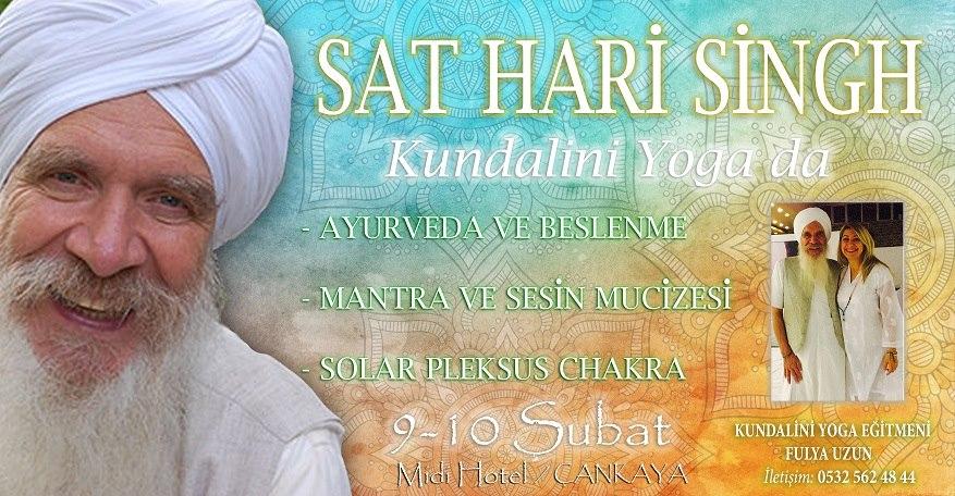 Sat Hari Singh Khalsa ile Kundalini Yoga ve Meditasyon Atölyesi