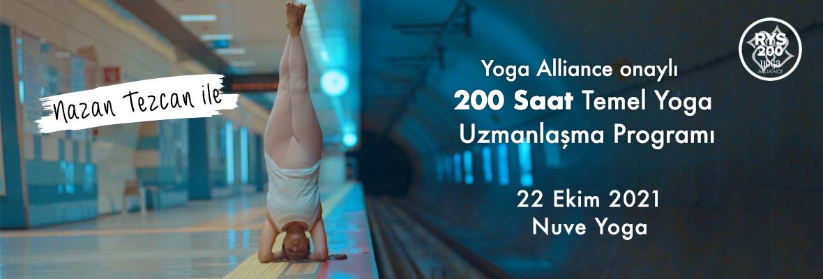 Nazan Tezcan ile Yoga Alliance onaylı 200 Saat Temel Yoga Uzmanlaşma Programı
