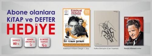 Edebiyat Atölyesi Dergisi Yıllık Abonelik Kampanyası (defter+kitap+ücr